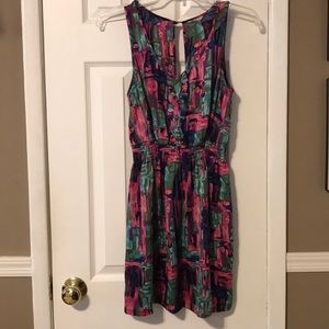 Forever 21 multi colored silky dress